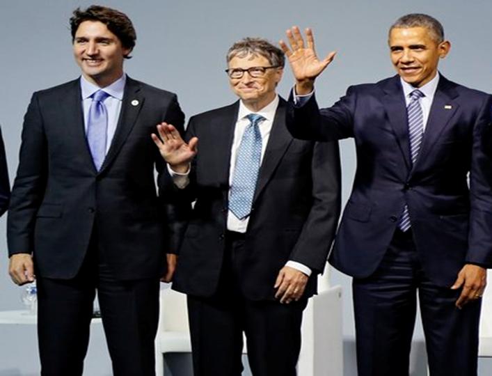 """""""El mundo está mejor que nunca"""". Obama, Trudeau, Bill y Melinda Gates debaten sobre los progresos de la humanidad y de cómo seguir avanzando"""