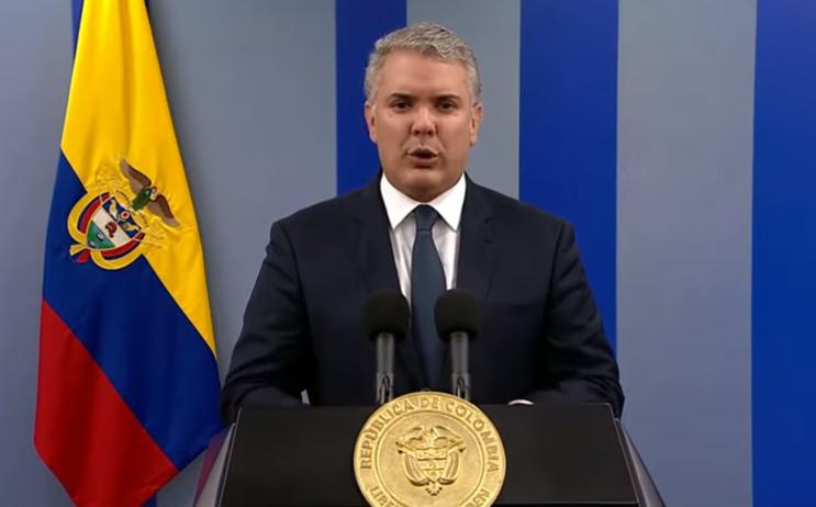 Colombia. Presidente Duque se pronunció sobre el 21N