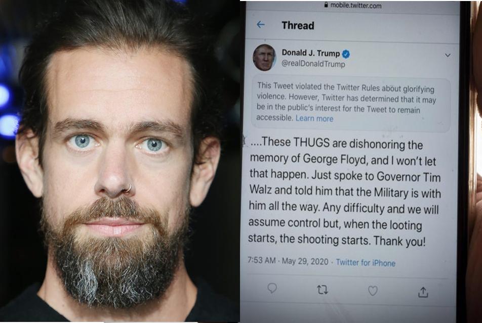 """Twitter planta cara a Trump denunciando un mensaje obre Minneapolis que """"ensalza la violencia"""""""