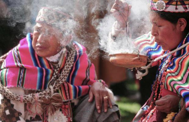 Celebración de la Pachamama en medio de la pandemia por covid-19
