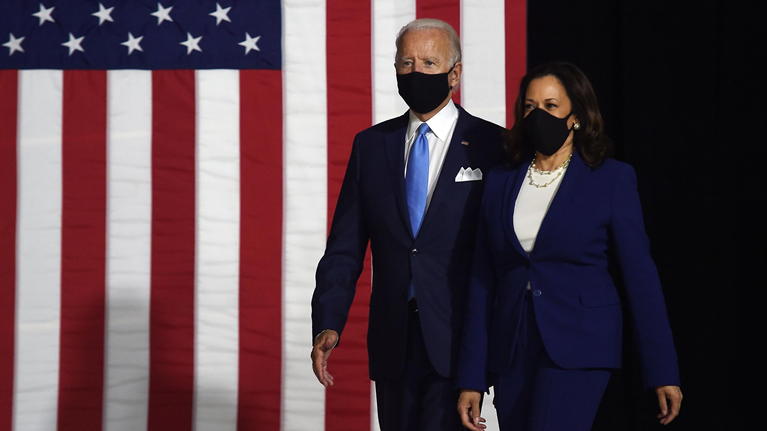 USA. 20 de enero 2021. Joe Biden presidente 46 y la vice Kamala Harris: se posesionan