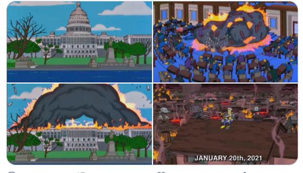Los Simpson predijeron lo del capitolio? O algo más grave para el 20 de enero?
