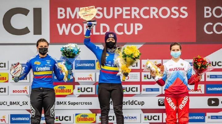 La colombiana MARIANA PAJÓN  ganó la Copa del Mundo de BMX 2021