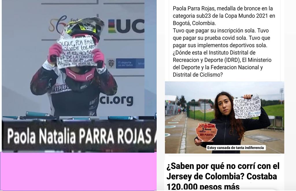 La ciclista quien le recordó a DUQUE algunos artículos de la Constitución de Colombia