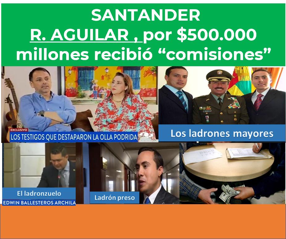Richard Aguilar cobraba comisiones por los contratos que otorgaba.